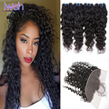 Brazilian Water Wave With Closure 4 Bundles Brazilian Water Wave Hair With Frontal Baby Hair ,Human Hair Frontal With Bundles