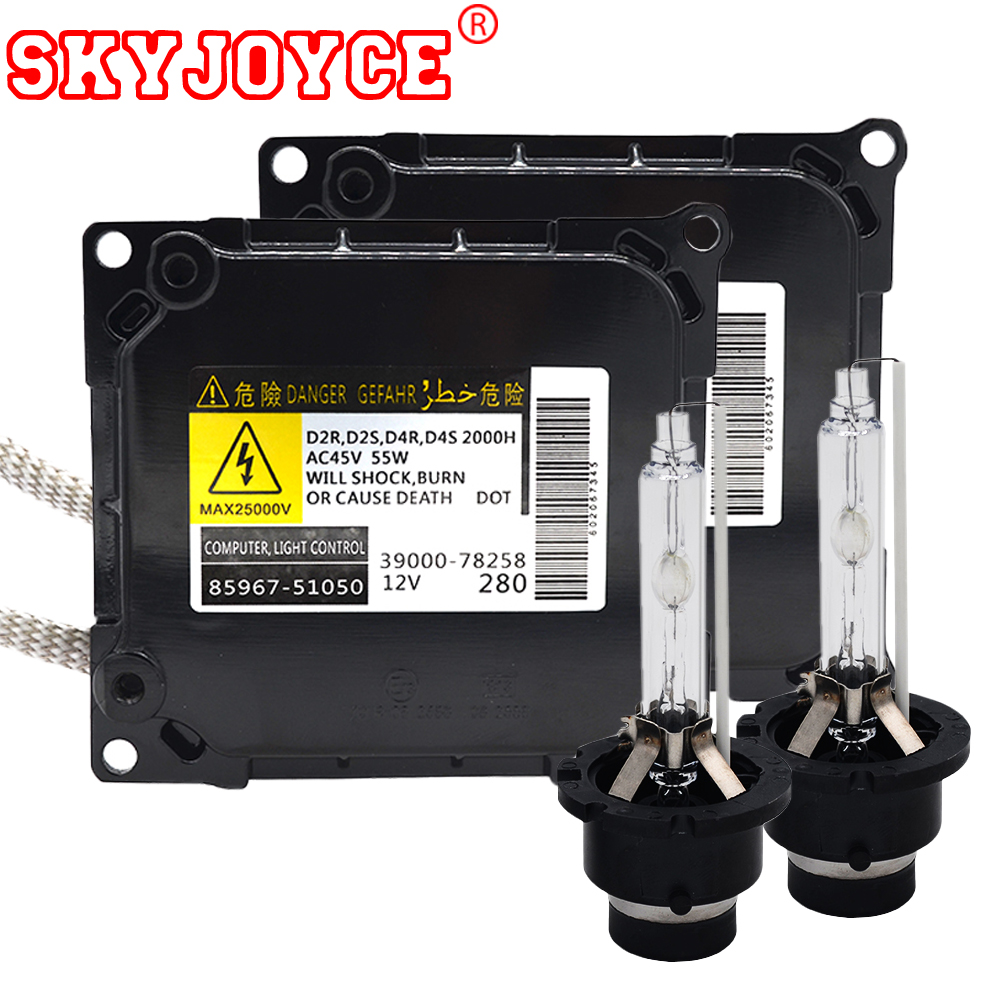 SKYJOYCE Original 55W D4S Xenon HID Kit xenon D4S 6000K 4300K 5000K 8000K D2S D2R ballast kit parts No.85967-51050 Car Headlight d2s xenon hid kit ac c5 55w hid xenon kit slim ballast d2s d2c 4300k 6000k 8000k headlight replacement bulbs hid kit