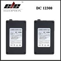 2x Eleoption DC 12V 3000mAh DC12300 Super Portable Rechargeable Lithium Ion Battery With Black Case