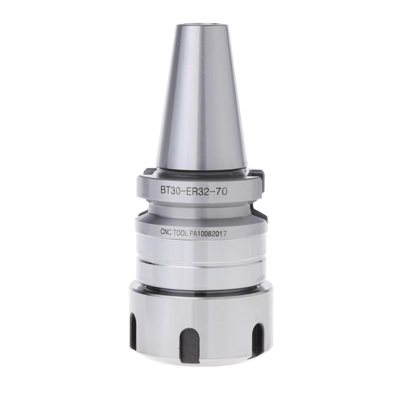 OOTDTY BT30 ER32-70L CNC Milling Collet Chuck Holder M12X1.75 Toolholder CNC Lathe bt40 er32 15pc milling lathe collet chuck set 3 to 20mm