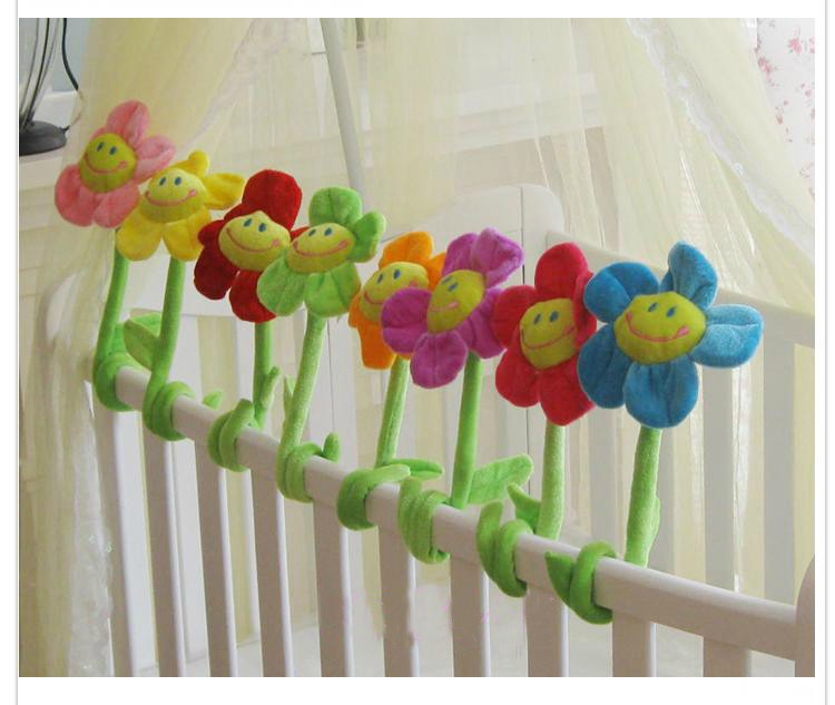 beautiful sunflower toy muticolour flowers lovely plush flowers 10pieces lot about 60cm