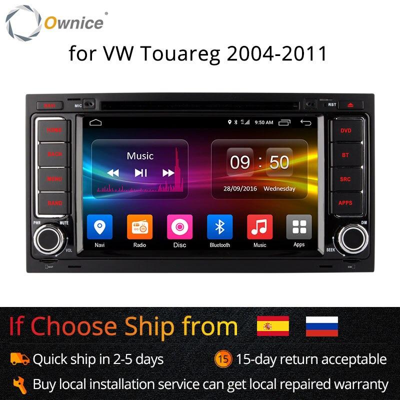 Ownice Android 6.0 4G SIM LTE Octa Core 2G RAM dvd de voiture radio gps pour Volkswagen Touareg T5 Transporter Multivan 2005-2011 Stéréo