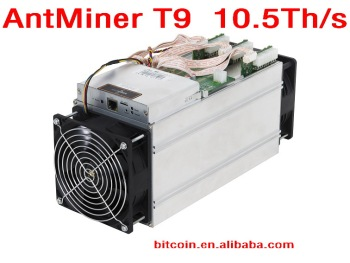 Bitmain AntMiner T9/S9 10.5Th/s 10500Gh/s Asic Miner Bitcoin Miner 16nm BTC Mining machine Power Consumption 1324w SHA256 BM1387