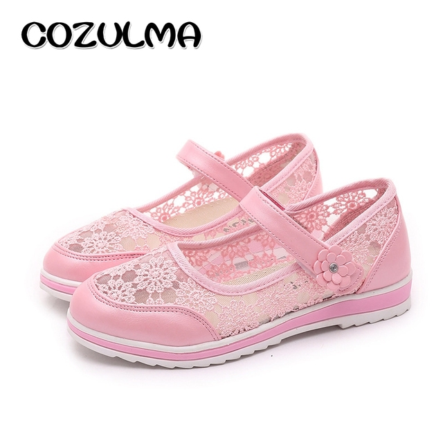 Girls Fashion Lace Sandals Summer Autumn Style Kids Flat Casual School Shoes