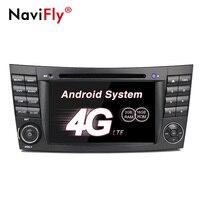 4 ядра 2DIN Android 7,1 автомобильный DVD плеер Радио Аудио для Mercedes/Benz E Class W211 CLK/W209 w219 с gps Navi 4G, Wi Fi, BT, RDS