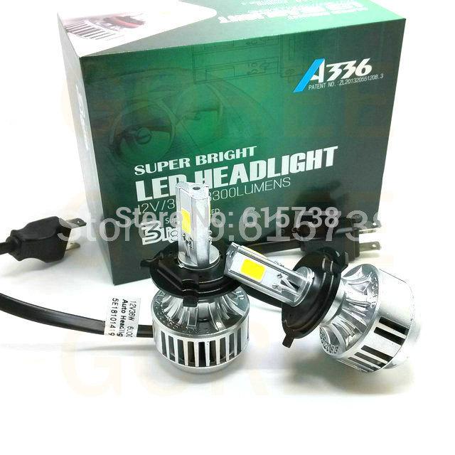 6600LM cre DRL lámpara H4 led headlight Hi/Lo del coche auto llevó bombillas de los faros led faro faros de automóviles (9003 9004 9007 H13)