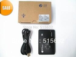 عالية الجودة 125 كيلو هرتز EM4100 جديد الأمن الأسود usb id rfid القرب الاستشعار الذكية قارئ بطاقة