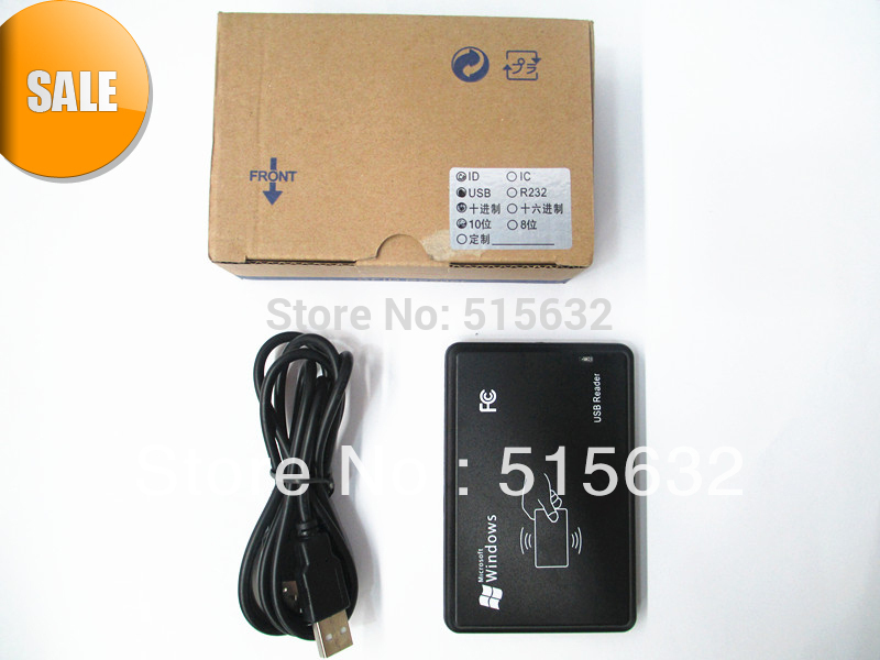 все цены на high quality 125Khz EM4100 New Security Black USB RFID ID Proximity Sensor Smart Card Reader онлайн