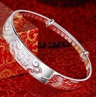 999 sterling silver female thousand foot birthday bracelet authentic