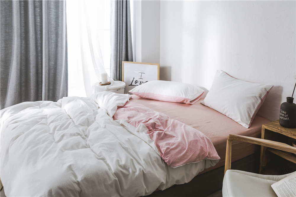 double sided cotton bedding sets modern japanese minimalist bed sheets duvet cover comfort bed linens bedspread queen twin size