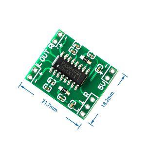 Image 1 - 100 قطعة PAM8403 سوبر مضخم رقمي صغير مجلس 2*3 واط فئة D مضخم رقمي مجلس كفاءة 2.5 إلى 5 فولت USB امدادات الطاقة