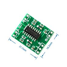 100PCS PAM8403 Super mini digital amplifier board 2 * 3W Class D digital amplifier board efficient 2.5 to 5V USB power supply