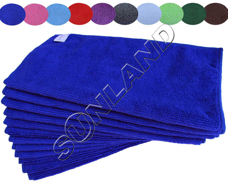 50PC/lot 2015 hot sale multi color magic microfiber cleaning cloth absorbent towel kitchen quick dry cloth 14x14