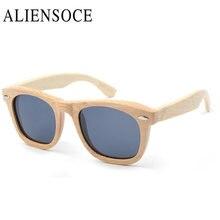 New Fashion Products Men Women Glass Bamboo Polarized Sunglasses AU Retro Vintage Wood TAC Lens Wooden Frame Handmade