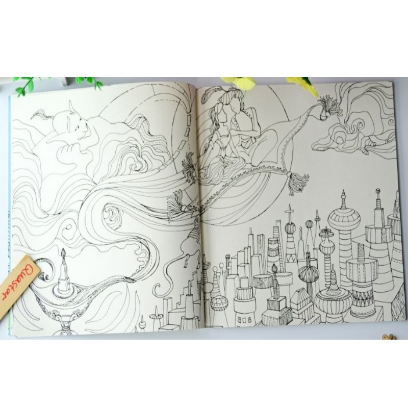 Kingdom of Fairy tales coloring book for adult children antistress ...
