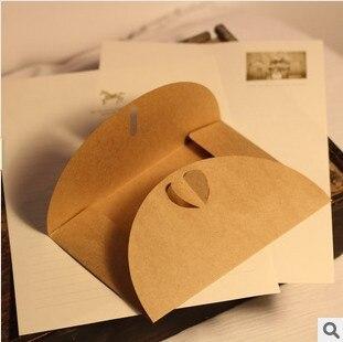 Free Shipping/ Vintage 120g Craft Paper Love Buckle DIY Multifunction Envelope 50pcs/set/Package Paper/wholesale