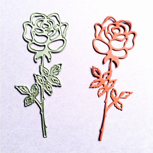 rose flower die cuts metal die cutting dies scrapbooking paper cards