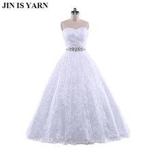 Корсет с вышивкой без бретелек белое платье цвета слоновой кости с хрустальными бусинами Свадебные платья свадебное платье размера плюс вечерние Макси элегантные