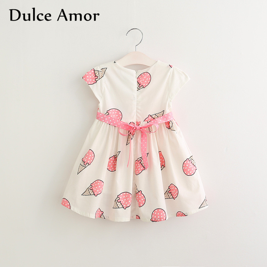 HTB1jYa7SXXXXXaJXXXXq6xXFXXXe - Dulce Amor Summer Cute Girls Dress Kids Baby Girls Clothes Short Sleeve Ice Cream Print Princess Dress Kids Dress For Girl
