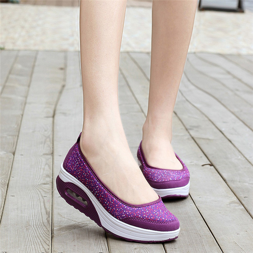 Women Outdoor Sneakers Mesh Casual running shoes Sports Shoes Thick-Soled Air Cushion Shoes Sneakers #2S05 (17)