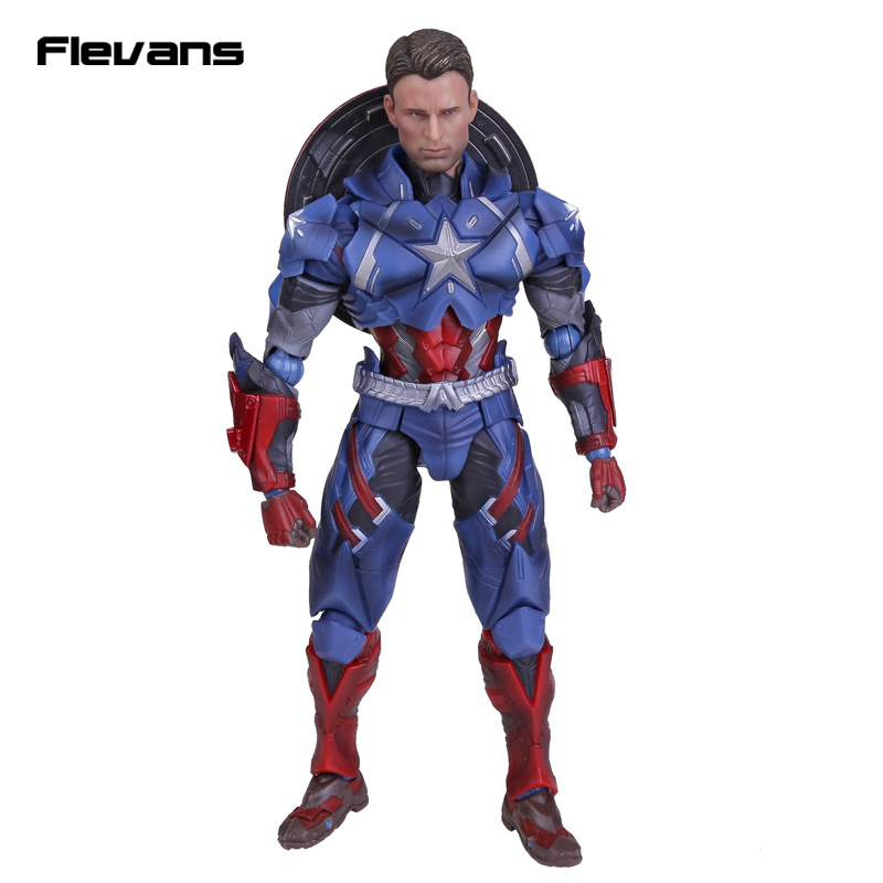 Crazy Toys Civil War Captain America PVC Action Figure Collectible Toy 10 25cm marvel captain america civil war scarlet witch black panther winter soldier falcon pvc action figure collectible model toy