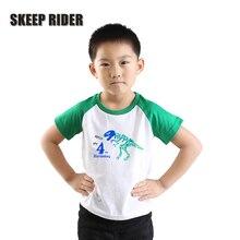 Fashion Dinosaur Boys Tshirts Short Sleeve Toddler Children Teenage Clothes dinosaurio Animal Kids Summer Dinosaurios Shirt