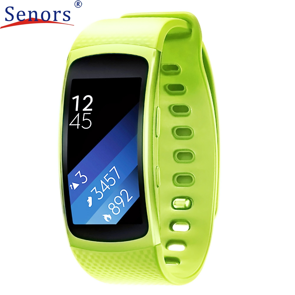 NEW Luxury Silicone Replacement Band Strap For Samsung Gear Fit 2 SM-R360 Wristband comfortable and high quality #0429