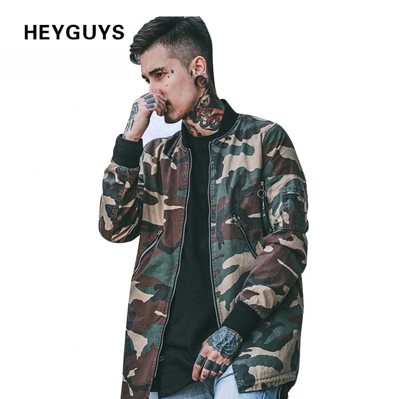 HEYGUYS 2018 high street Europe street camo Jacket Hip Hop ...