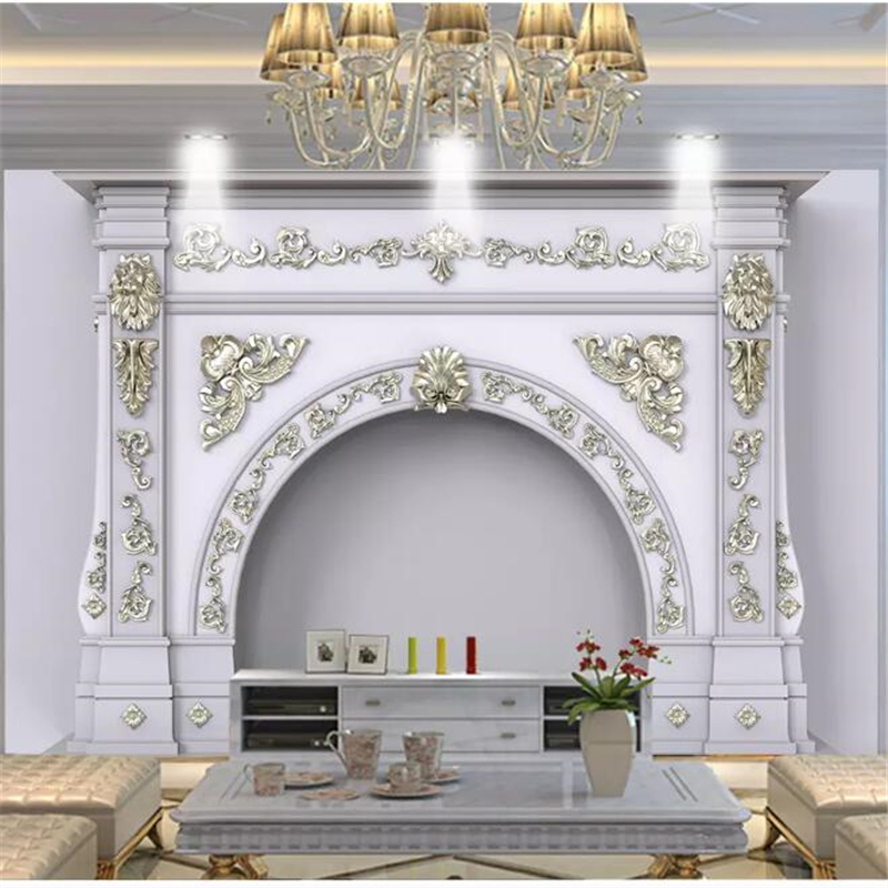 Us 8 85 41 Off Beibehang Wall Papers Home Decor Custom Wallpaper European Style Simulation Three Dimensional Pattern Roman Column Background In