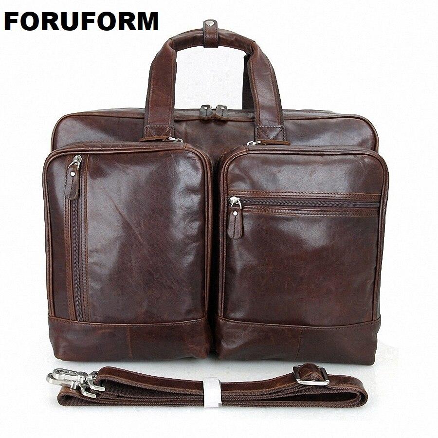 30ed0e9657a ⑤17 Pouce Ordinateur Portable Porte-Documents En Cuir Véritable ...