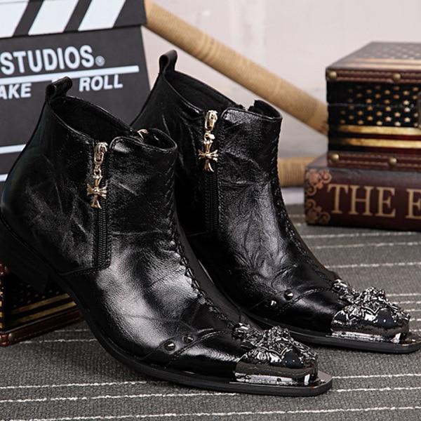 Genuine Leather Mens Shoes Cowboy Boots Rock Boots  Mens Ankle Boots Westorn Style Cowboy Leather Boots  Italy DesignGenuine Leather Mens Shoes Cowboy Boots Rock Boots  Mens Ankle Boots Westorn Style Cowboy Leather Boots  Italy Design