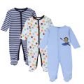 Mother Nest 3 piece/lot Baby Romper Long Sleeves 100% Cotton Baby Pajamas Cartoon Printed Newborn Baby Girls Boys Clothes