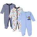 Mother nest 3 unid/lote mameluco del bebé de manga larga 100% del bebé del algodón pijamas de dibujos animados impreso bebé recién nacido chicas chicos ropa