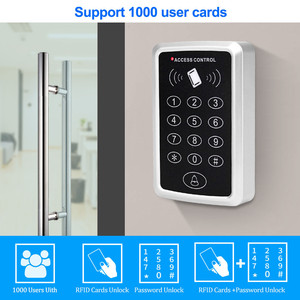 Image 2 - Waterproof RFID Access Control Keypad Outdoor Rainproof Cover 125KHz EM Card Reader 10pcs Keyfobs For Door Access Control System