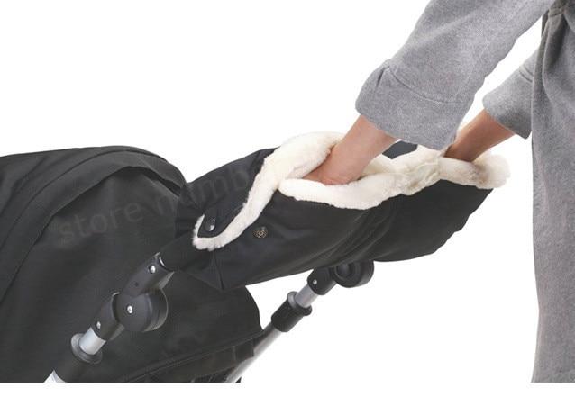 Baba babakocsi termikus kesztyű baba autó vízálló anti-fagyasztó babakocsi kézi muff meleg kesztyű téli babakocsi kiegészítők