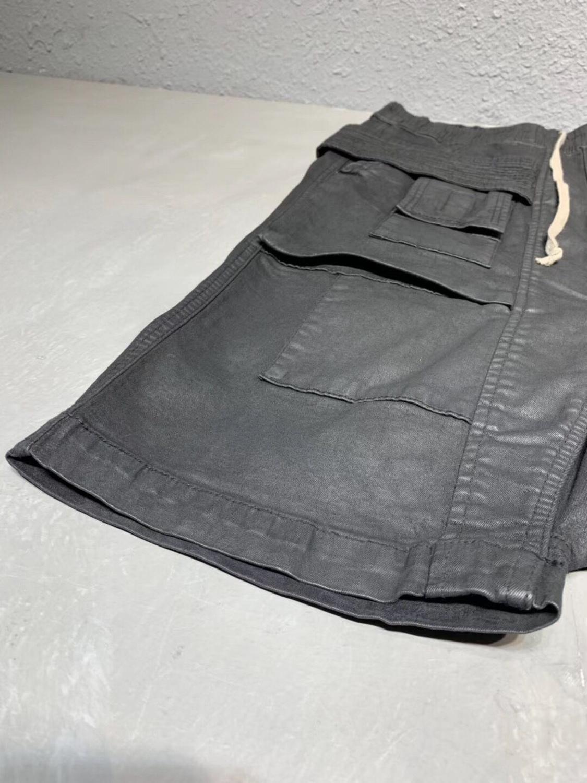 オーウェン Seak 男性カジュアルハーレムパンツ綿デニムジーンズゴシック男性の服スウ夏女性膝丈ルース黒ショーツ  グループ上の メンズ服 からの ショートパンツ の中 2