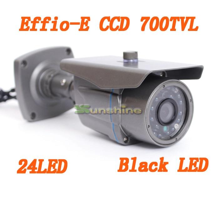 CCTV Camera 1/3 Sony CCD Effio-e 700tvl 24leds IR Outdoor / Indoor HD 960H Security Bullet Analog Camera