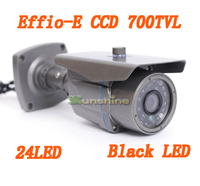 CCTV Camera 1/3 Sony CCD Effio e 700tvl 24leds IR Outdoor / Indoor HD 960H Security Bullet Analog Camera