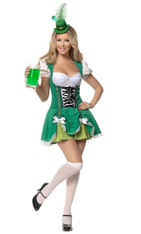 Free Shipping Fashion small cosplay game uniforms work wear beer girl costume women halloween party costume