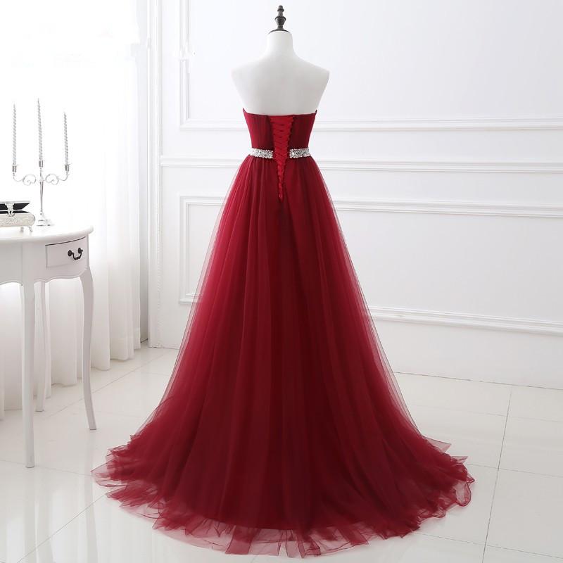 buy Burgundy Wedding Dress Sweetheart Evening Gown