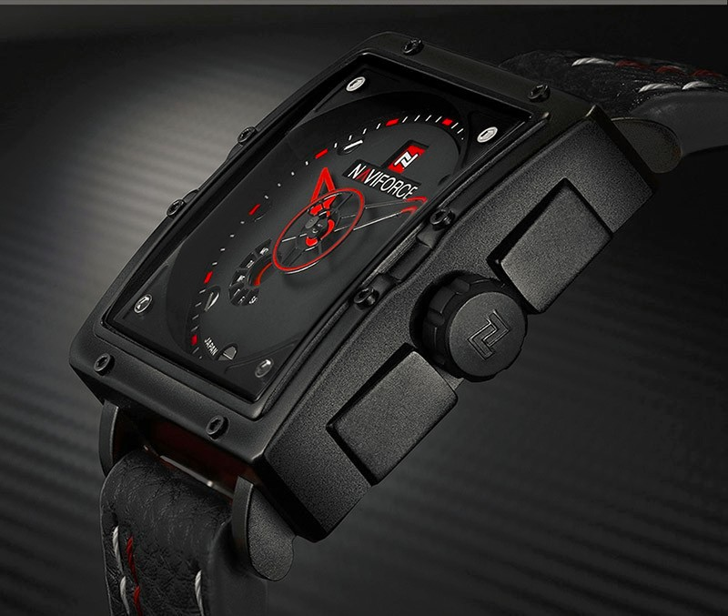 Image 3 - Naviforce Watches Men Brand Luxury Leather Quartz Men Watch Fashion Casual Military Sport Male Date Wristwatches Luminous Clock-in Quartz Watches from Watches