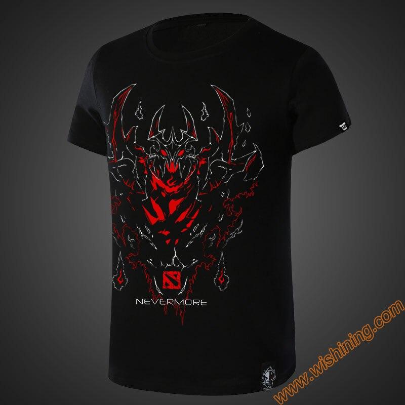 2017 Blizzard DOTA 2 SF Nevermore T-shirt DOTA2 Game Charater Hero T-shirts Men Boy 4XL 3XL Black Tee Tshirt