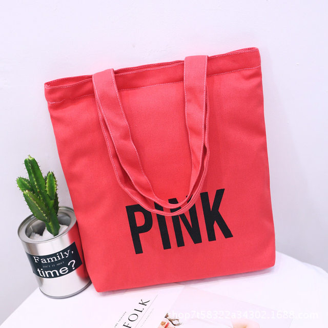 bdcfd4f5be crossbody handbags for women 2018 CANVAS TOTE BAG LIMITED EDITION PINK  STRIPED VS weekend travel beach holiday tote bag bolsa