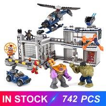 Decool Compatible LegoSet 76131 Marvel Avengers Endgame Compound Battle Superheroes Building Blocks Bricks Educational Toys Gift
