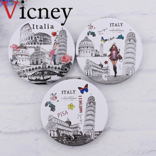 Vicney 1pc New design Pocket Cosmetic Mirror Fashion creative Makeup Mirrors Compact Beauty Double-sided Magnifier