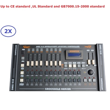 цена на 2Pcs/Lot CROCODILE 2024 DMX Controller DMX512 Console DMX Lighting Controller For Disco LED Par And Moving Head DJ Stage Lights