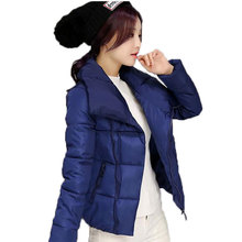 Ватные куртки женщины 2016 новые зимняя куртка женщин вниз куртки хлопка тонкий ветровки женские пальто плюс размер M-2XL AE1765