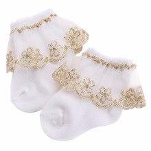 Meias Para Bebe/теплые хлопковые носки для маленьких девочек на крестины; Meias Infantil; Детские Вязаные кружевные детские носки до колена для новорожденных
