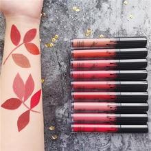 New Matte Liquid Lipstick Velvet Batom Lipgloss Makeup Waterproof Long Lasting Pigment Nude Sexy Lip Tint