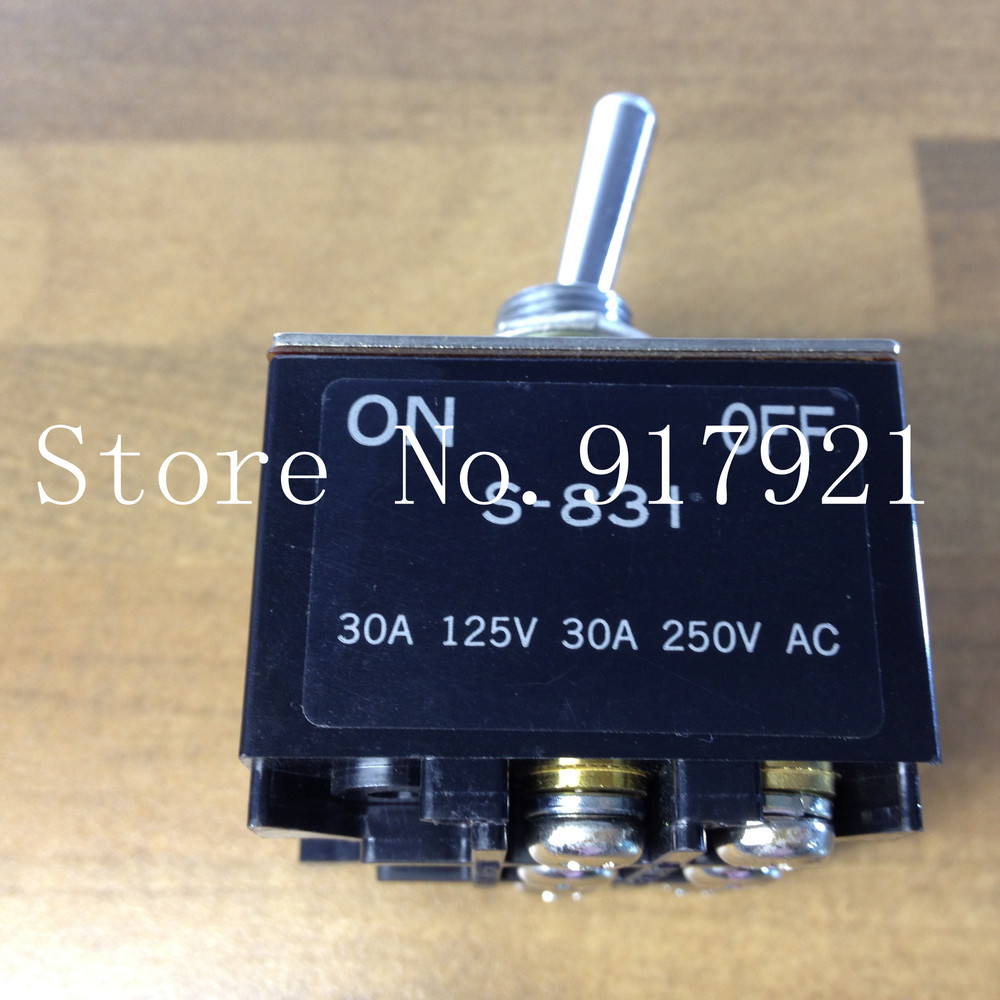 ФОТО [ZOB] The original Japanese NKK S-831 imported gear switch 30A250V 30A125V toggle switch  --2PCS/LOT